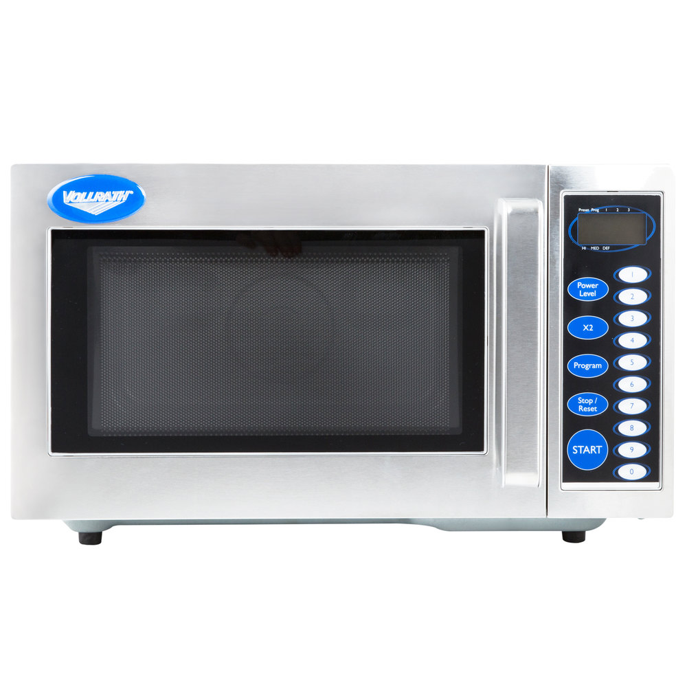 Vollrath 40819 Stainless Steel Commercial Microwave Oven With Digital Controls 120v