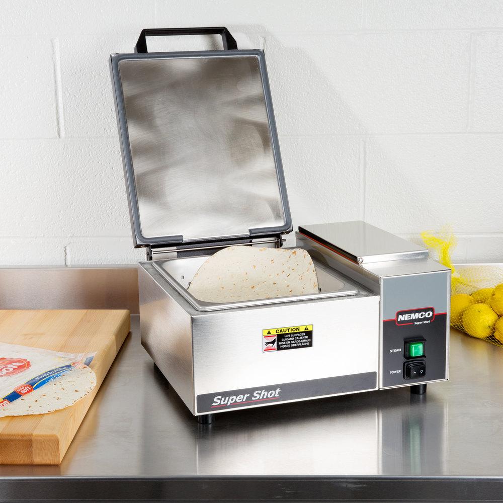 Electric Tortilla Steamer ~ Countertop steamer nemco super shot v
