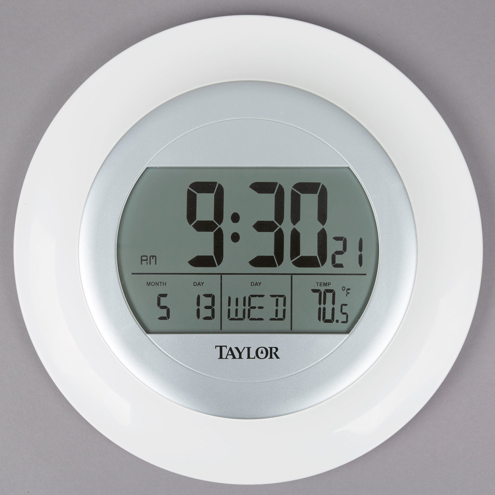 Digital Atomic Clock : Taylor quot digital atomic clock with thermometer