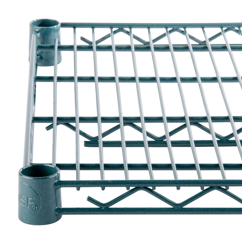 Regency 24 inch x 48 inch NSF Green Epoxy Wire Shelf