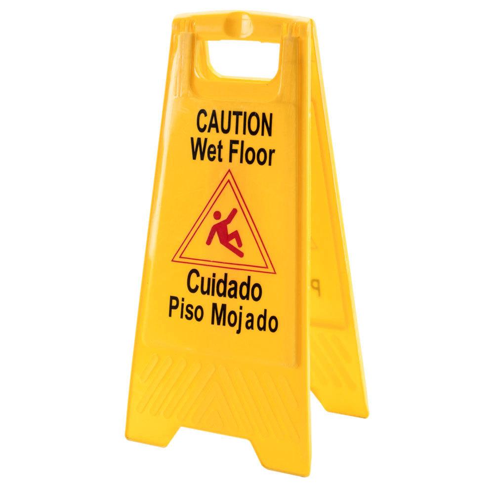Caution sign wet floor gurus floor for Floor banner