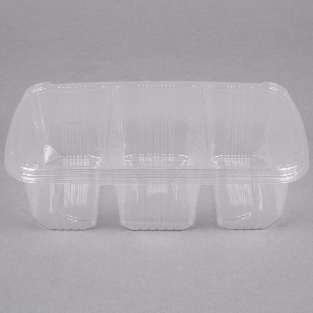 Polar Pak 5rh076 3p C 11 Quot X 7 Quot Clear 3 Compartment Plastic