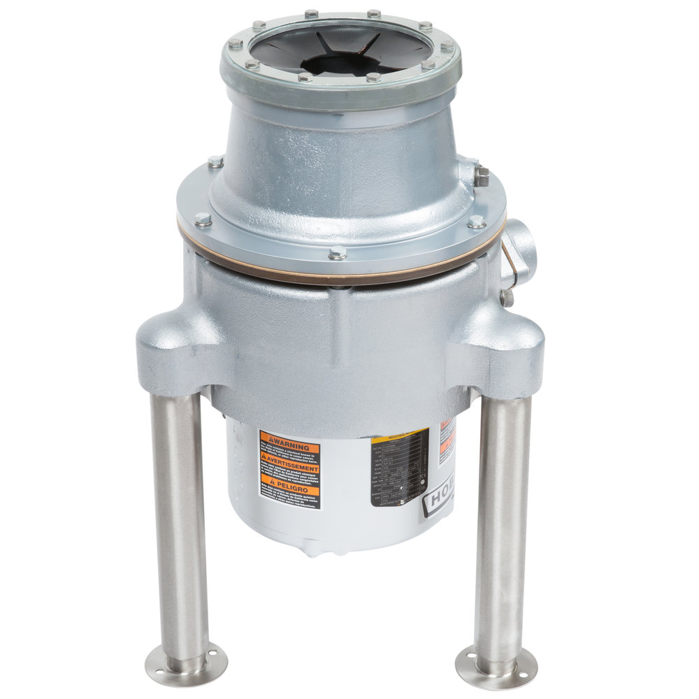 Hobart commercial garbage disposer with adjustable flanged feet