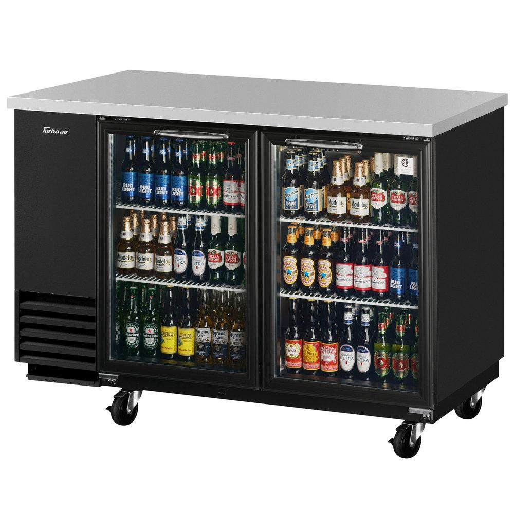 Turbo Air Tbb 2sg 59 Quot Glass Door Back Bar Refrigerator