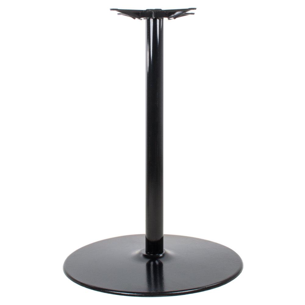 "Lancaster Table & Seating 30"" x 41"" Round Black Metal Table Base"