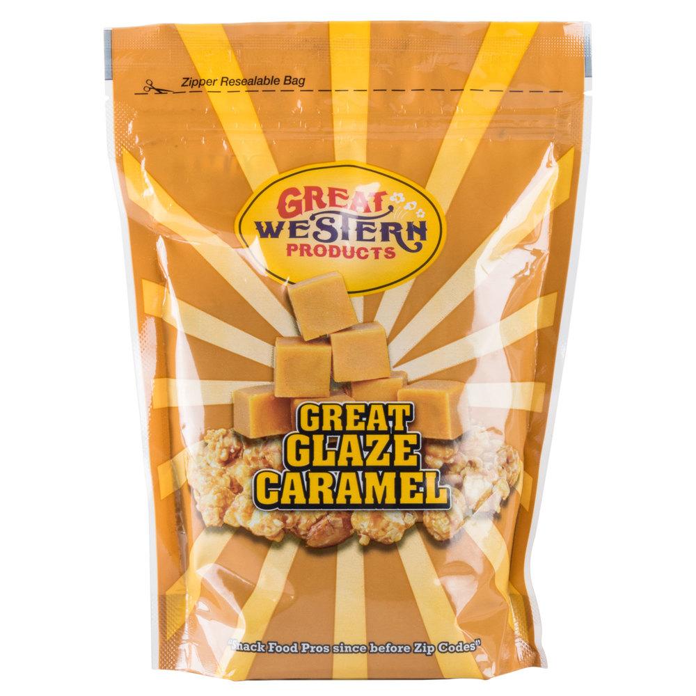 Great Western frosted caramel popcorn glaze
