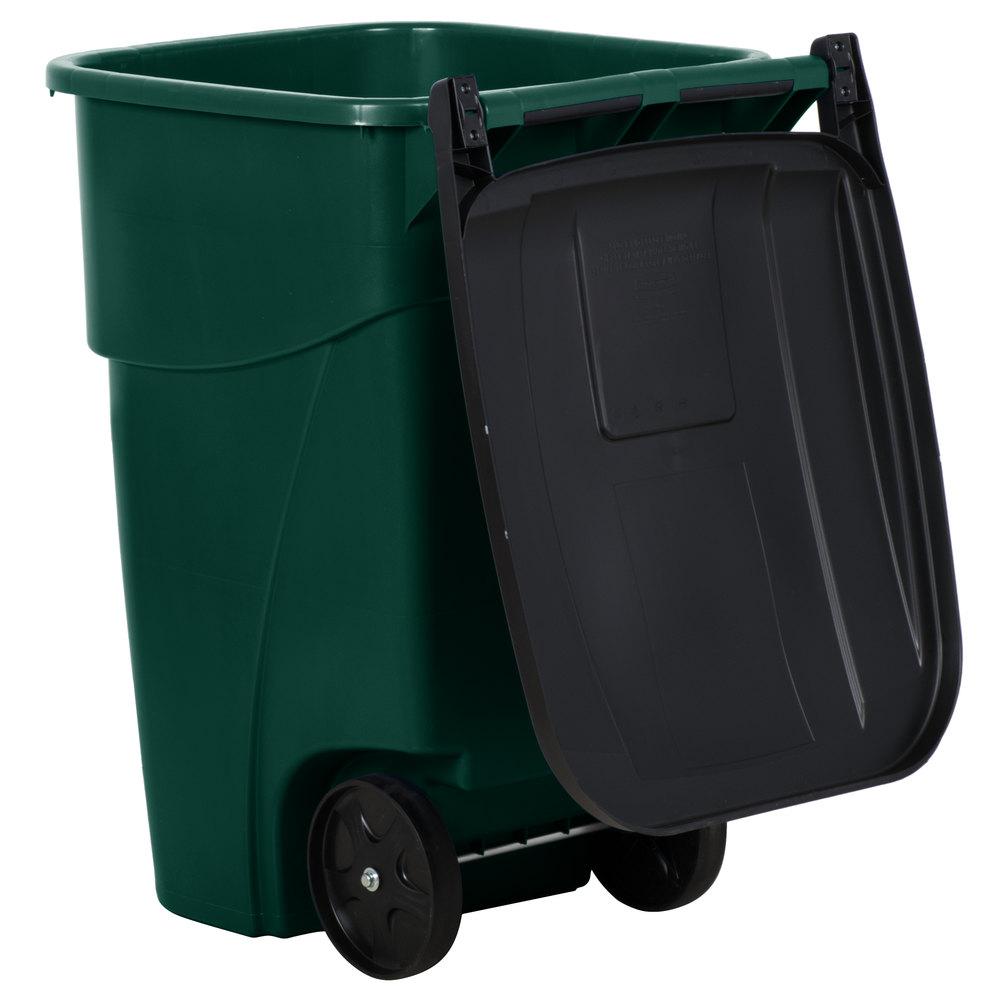 Rubbermaid 1829411 Brute 50 Gallon Green Standard Rollout