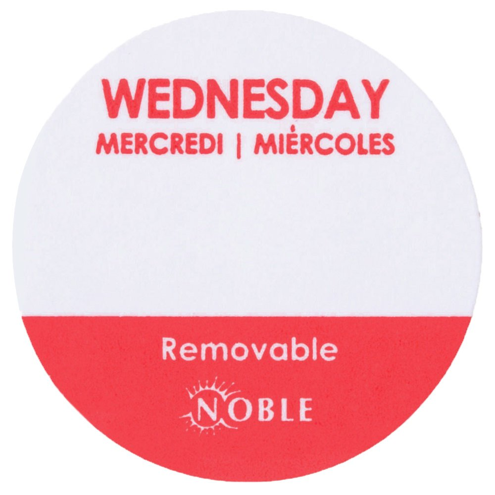 Noble Products Wednesday 1 Quot Removable Day Of The Week