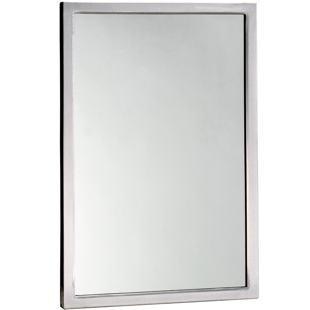 "Wall Mounted Mirrors bobrick b-290 2460 24"" x 60"" wall mounted mirror with stainless"
