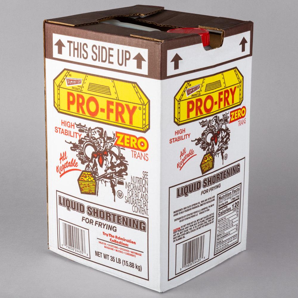 Boxed Admiration Pro Fry liquid shortening