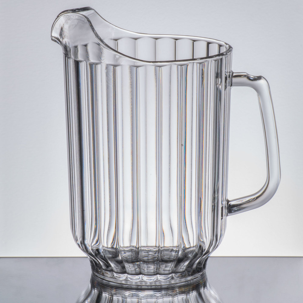 cambro p600cw135 camwear 60 oz clear plastic pitcher. Black Bedroom Furniture Sets. Home Design Ideas