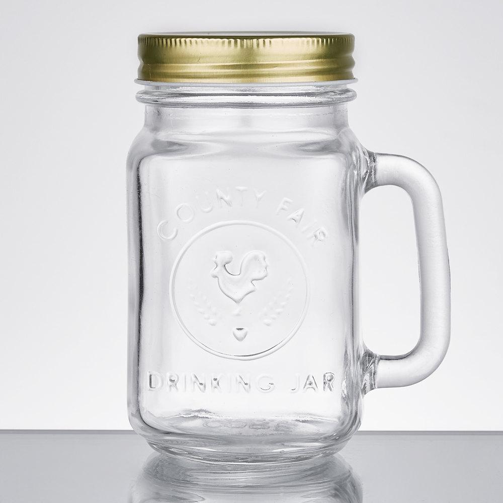 Core 16 Oz County Fair Mason Jar Drinking Jar With
