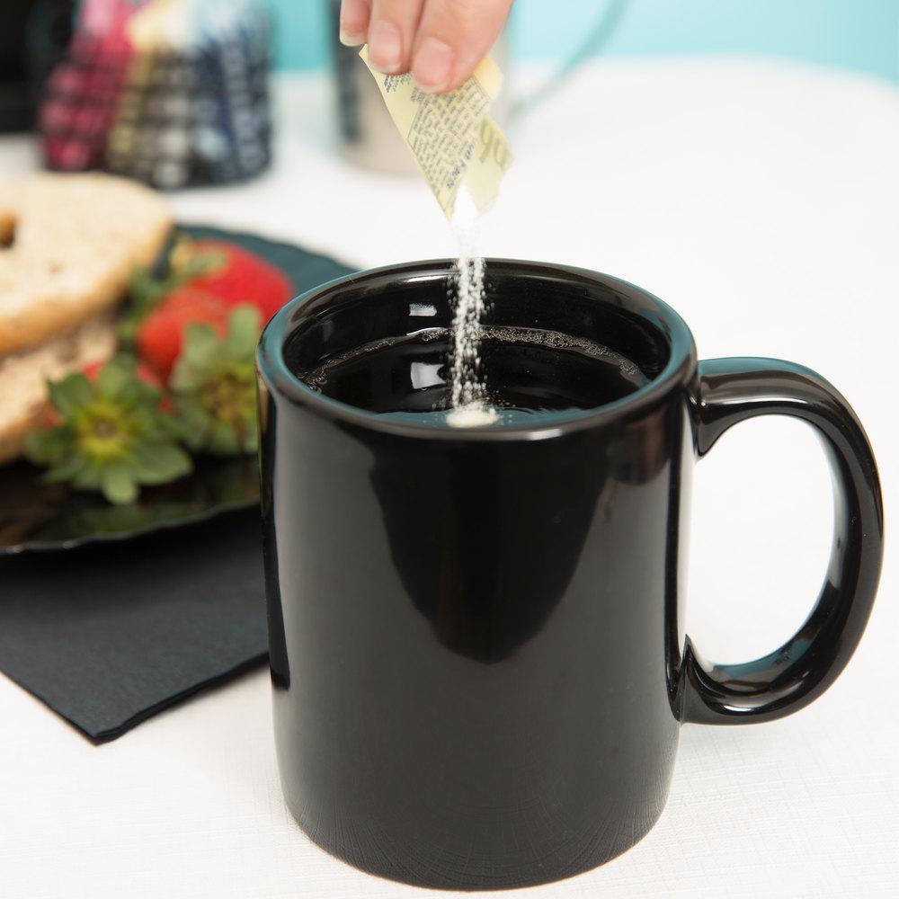 tuxton bbm 1202 duratux black 12 oz china c handle mug 24 case