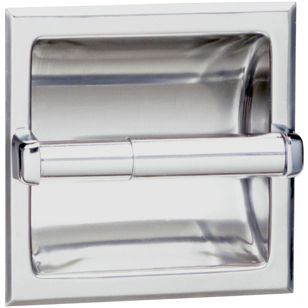 Bobrick B 6677 Recessed Toilet Tissue Dispenser With Satin