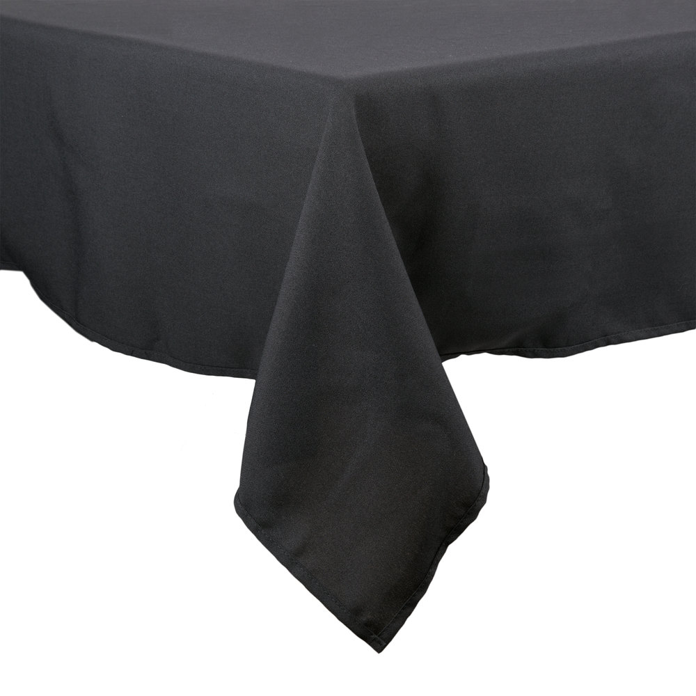 Superbe 54 Inch X 54 Inch Square Black 100% Polyester Hemmed Cloth Table Cover ...