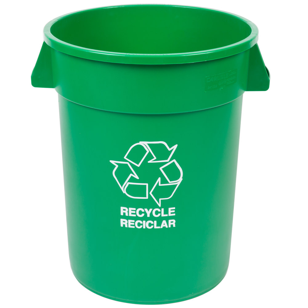 Carlisle 341032rec09 32 gallon green recycling container - Garden waste containers ...