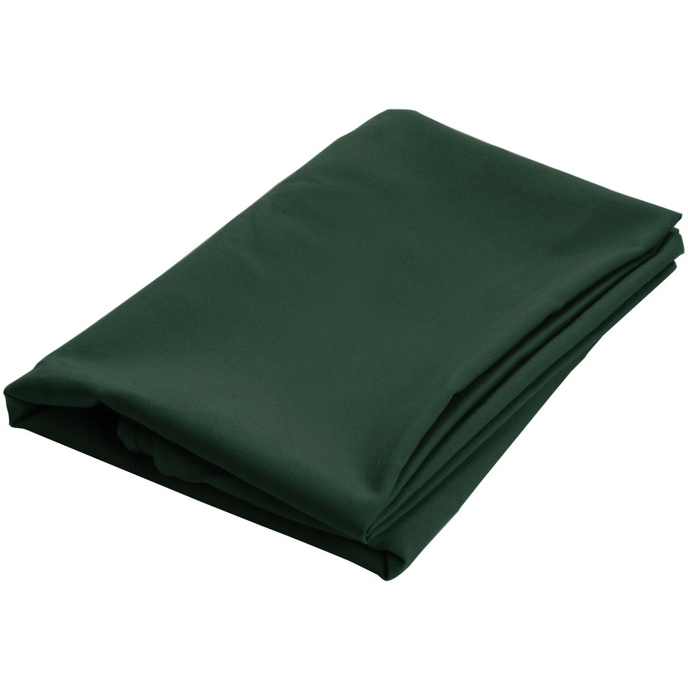 120 round forest green 100 polyester hemmed cloth table for 120 round table cover