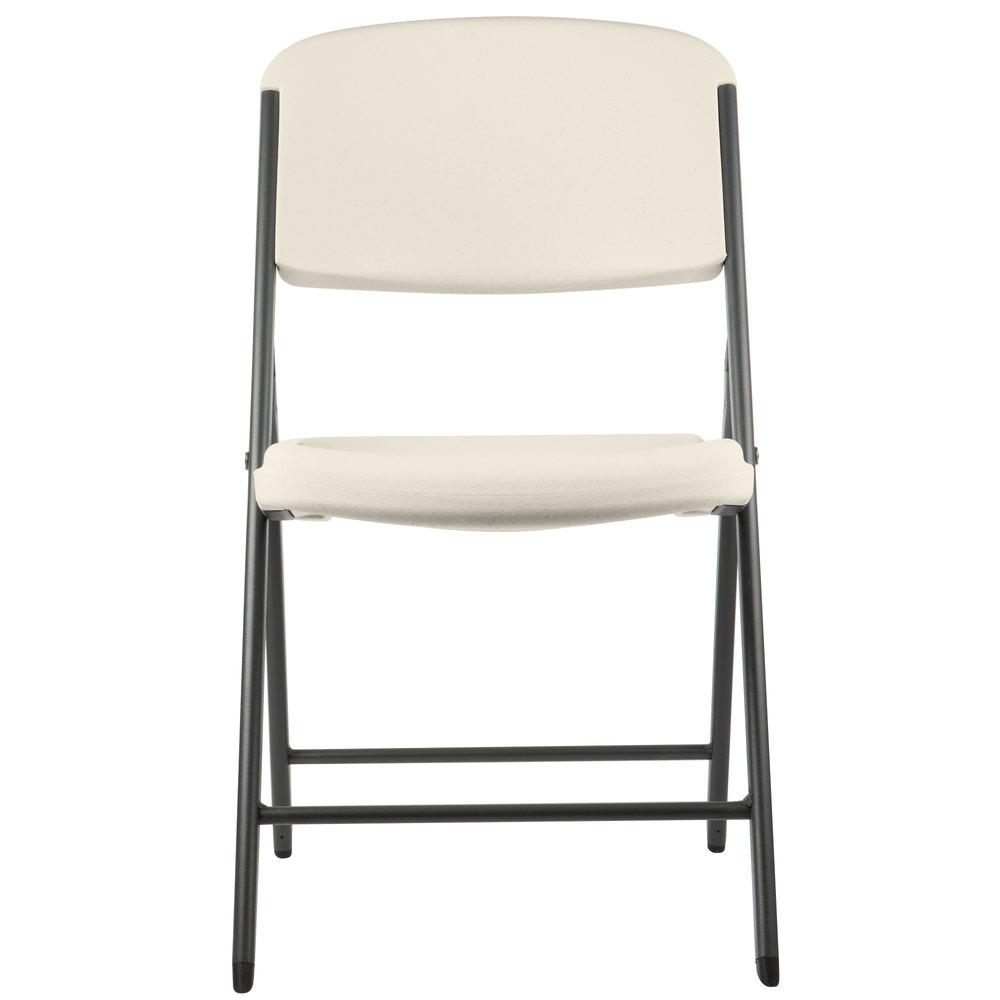 Lifetime 2803 Almond Contoured Folding Chair