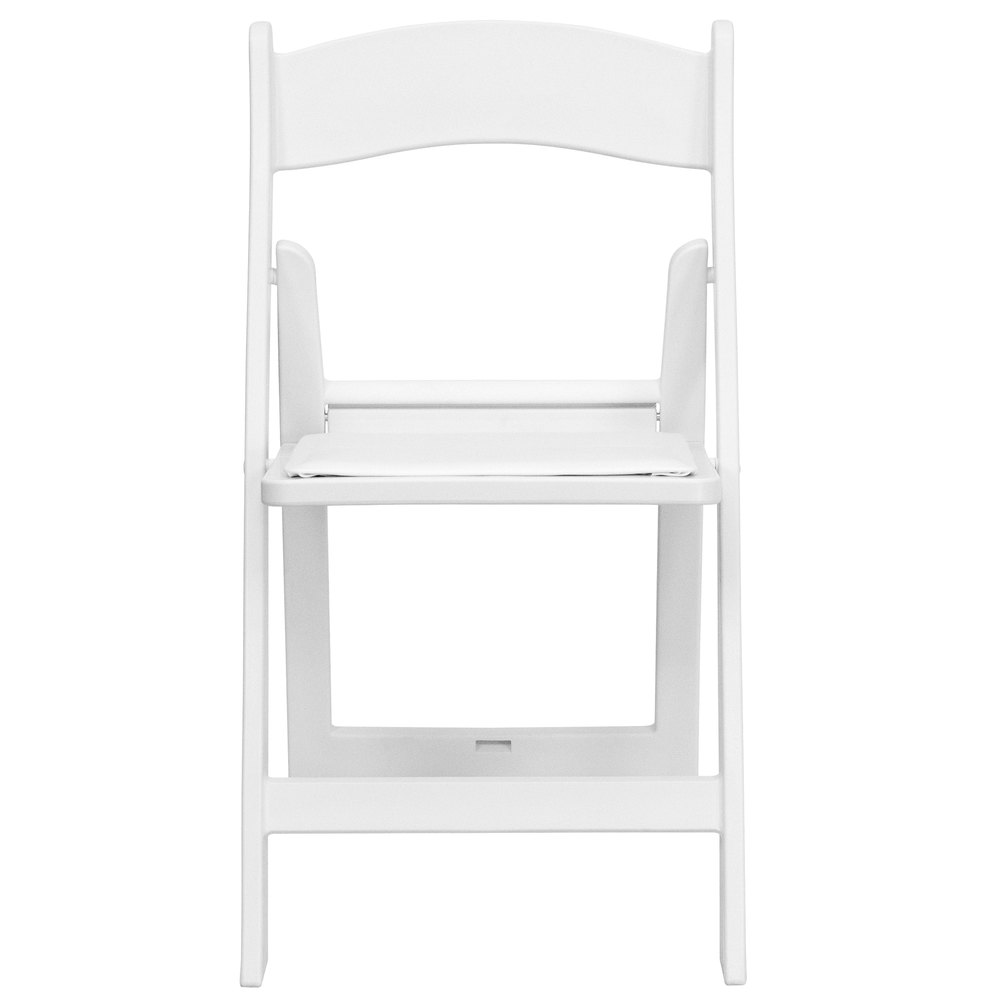 Flash Furniture LE L 1 WHITE GG White Plastic Folding Chair with