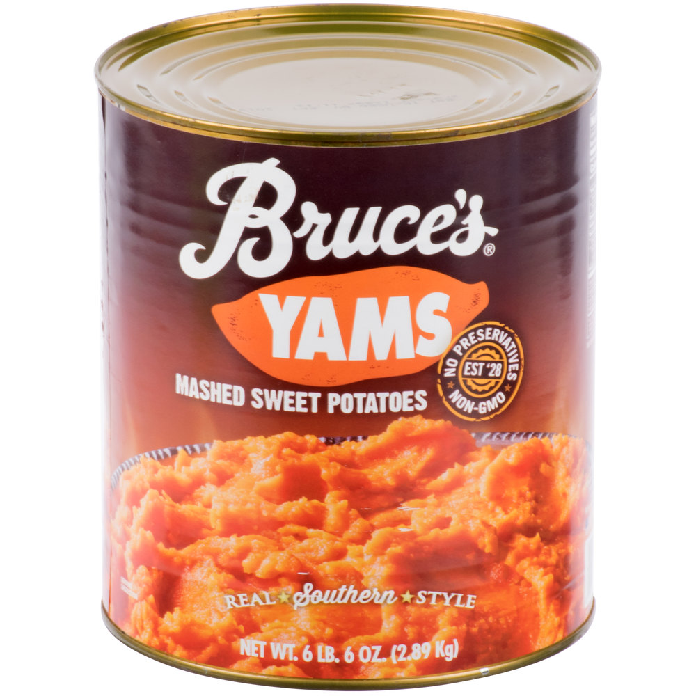 Plain Diced Sweet Potatoes: Bruce's Mashed Sweet Potatoes #10 Can