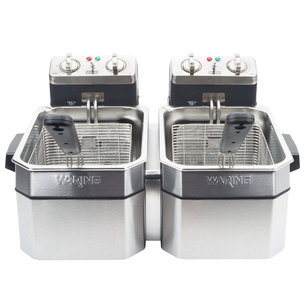 Commercial Countertop Deep Fryer Set 120v