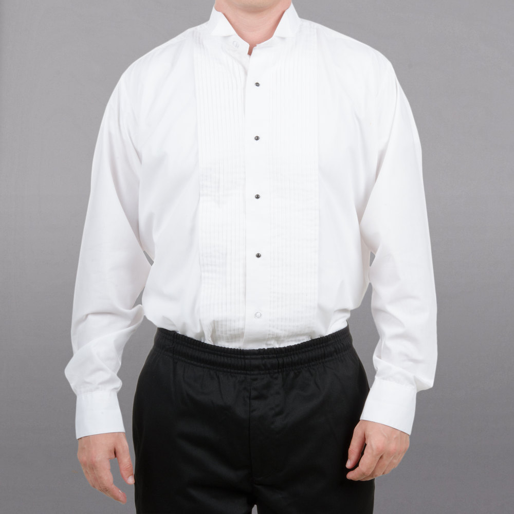 Henry Segal Server Tuxedo Shirt - Men's White Medium
