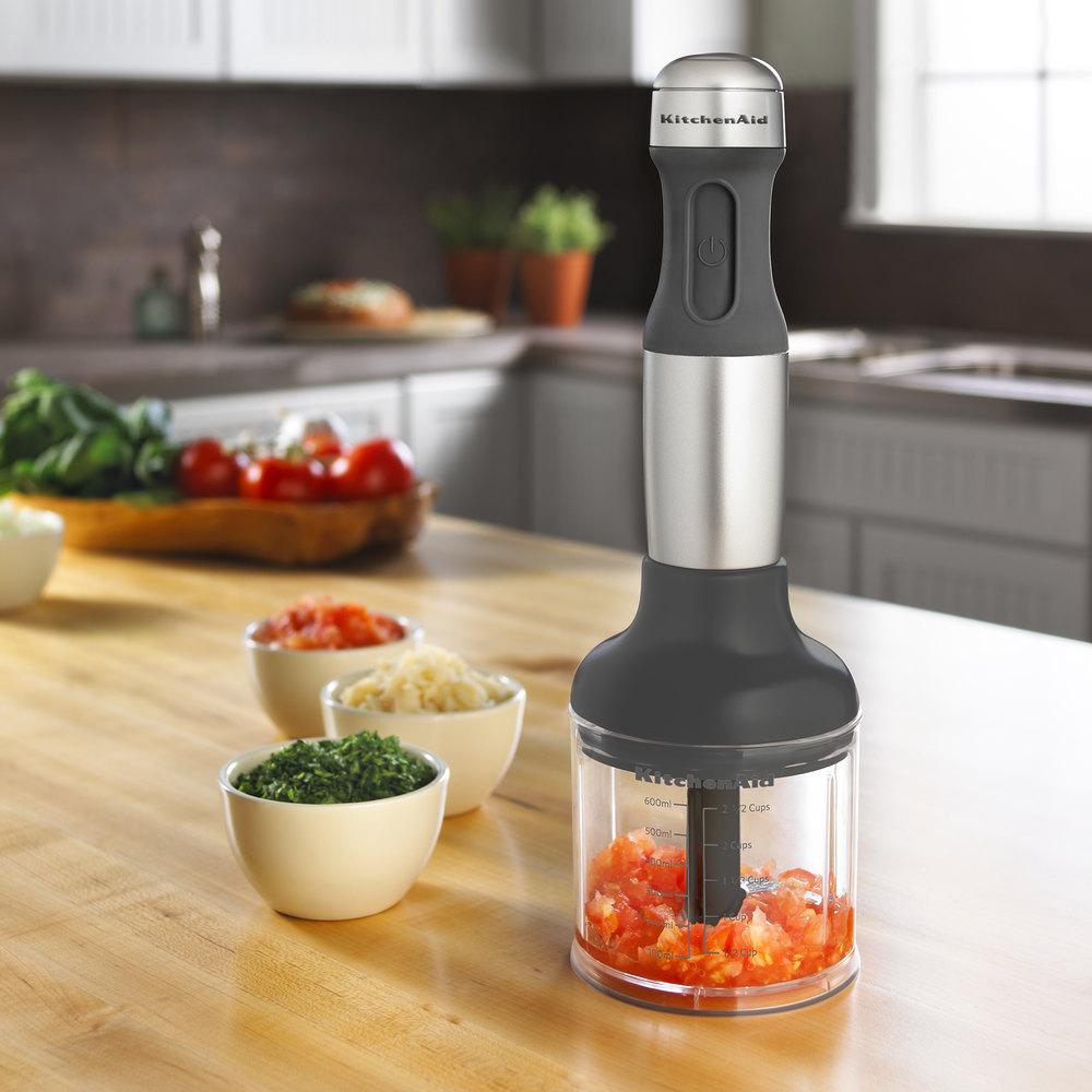 Kitchenaid Khb2351cu 3 Speed Hand Blender kitchenaid khb2351cu contour silver 3 speed hand blender with 8