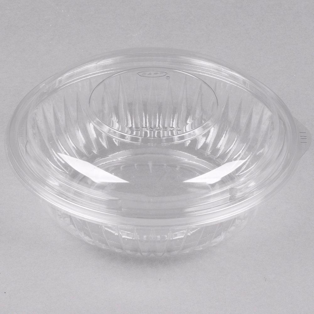 dart pet24bcd presentabowls 24 oz clear plastic bowl with dome lid 126 case. Black Bedroom Furniture Sets. Home Design Ideas