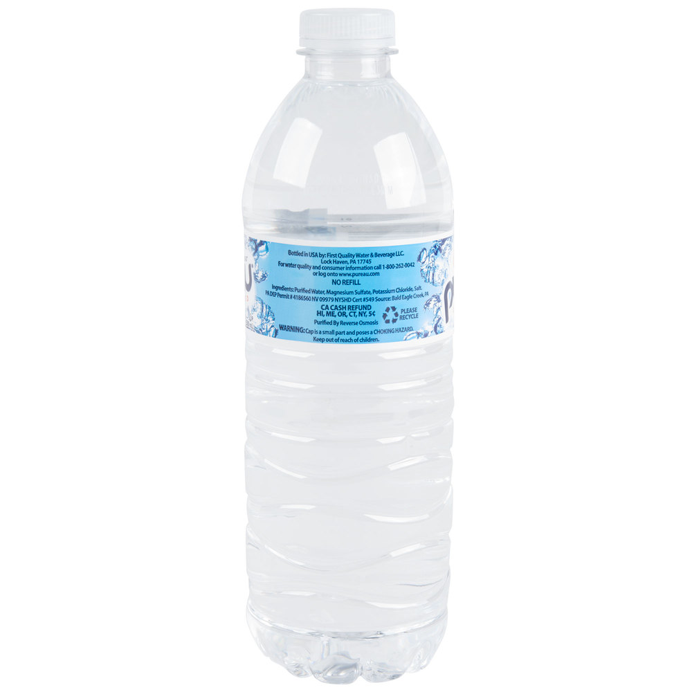 16 9 Oz Purified Bottled Water 24 Case