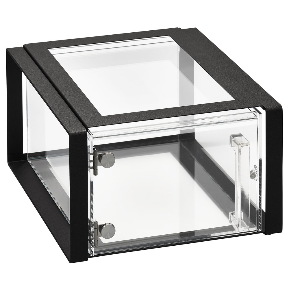 vollrath sbc12f 06 cubic 12 size acrylic pastry display case with front door - Display Frame