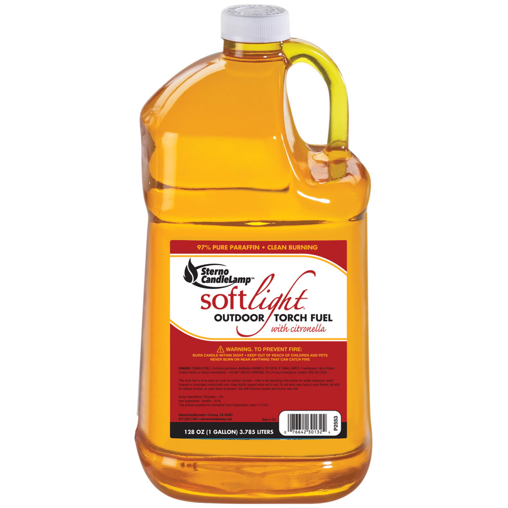 Sterno Products 30132 1 Gallon Soft Light Liquid Outdoor Torch ... for Paraffin Fuel  279cpg