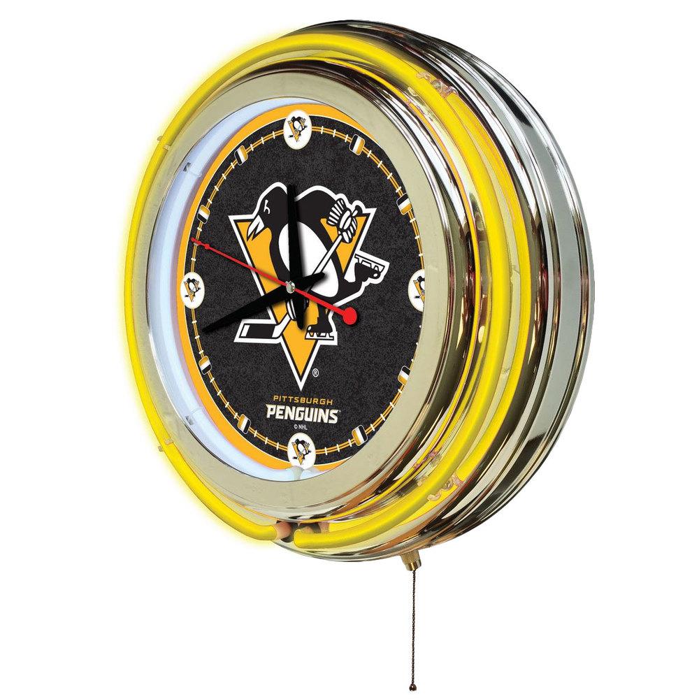 Holland Bar Stool Clk15pitpen Pittsburgh Penguins 15 Quot Neon