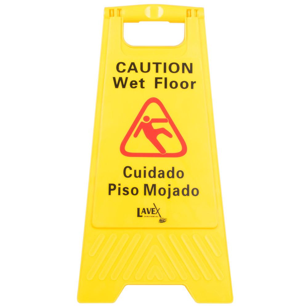 Caution wet floor sign white the image for Floor banner