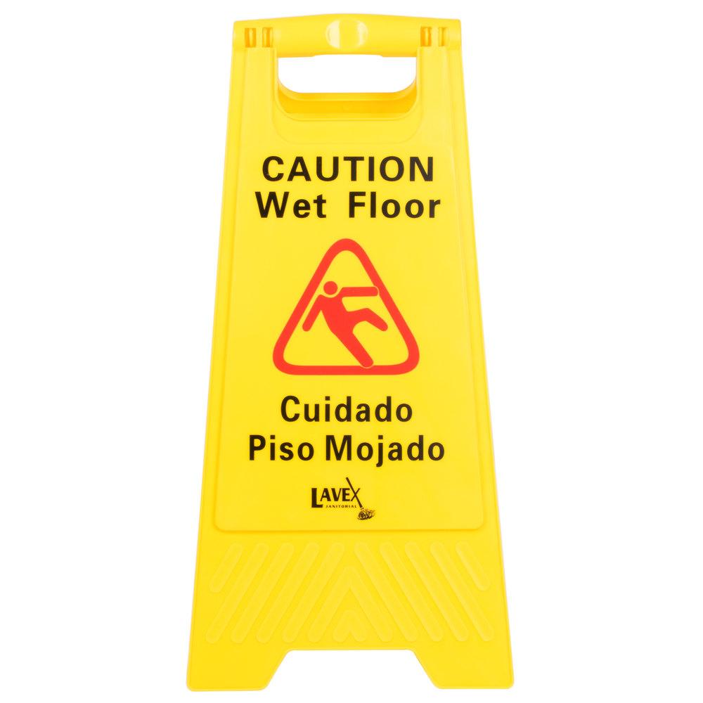 Lavex Janitorial Caution Wet Floor Sign