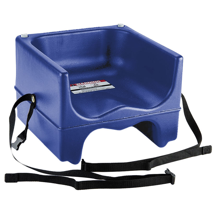 Cambro 200bcs186 Plastic Booster Seat Dual Seat With Strap Navy Blue