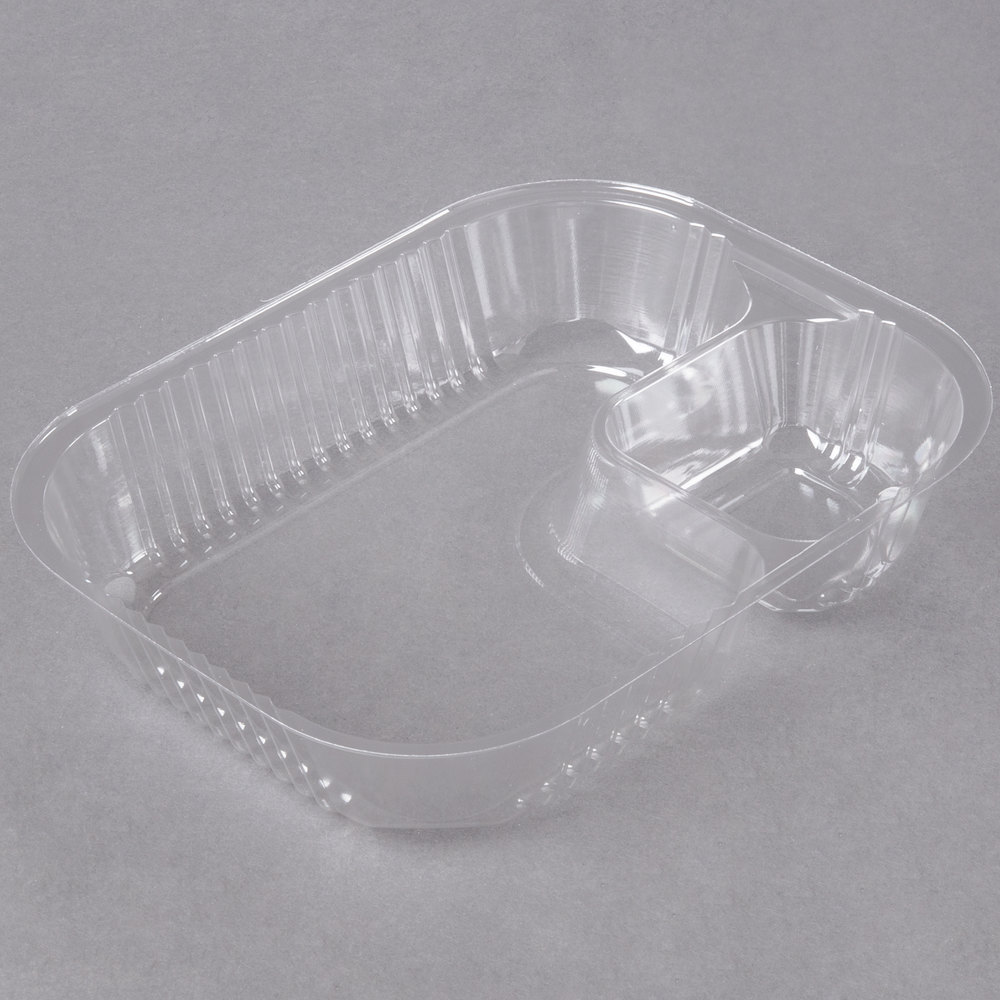 Carnival King Large Two Compartment Plastic Nacho Tray  - 500/Case