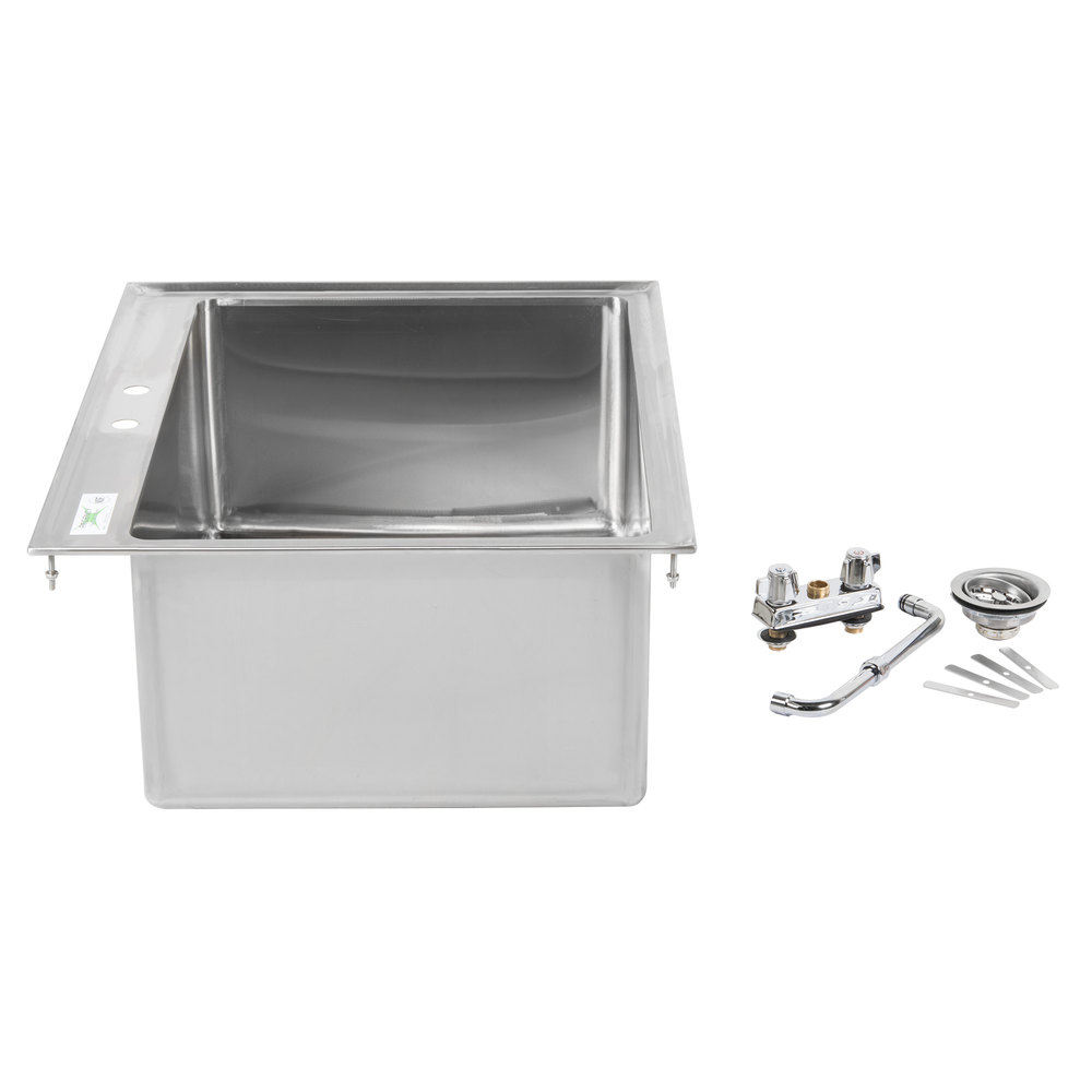 600di12812 regency - Stainless steel table with sink and faucet ...