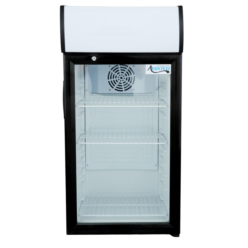 115 Volts Avantco SC 80 Black Countertop Display Refrigerator With Swing  Door ...