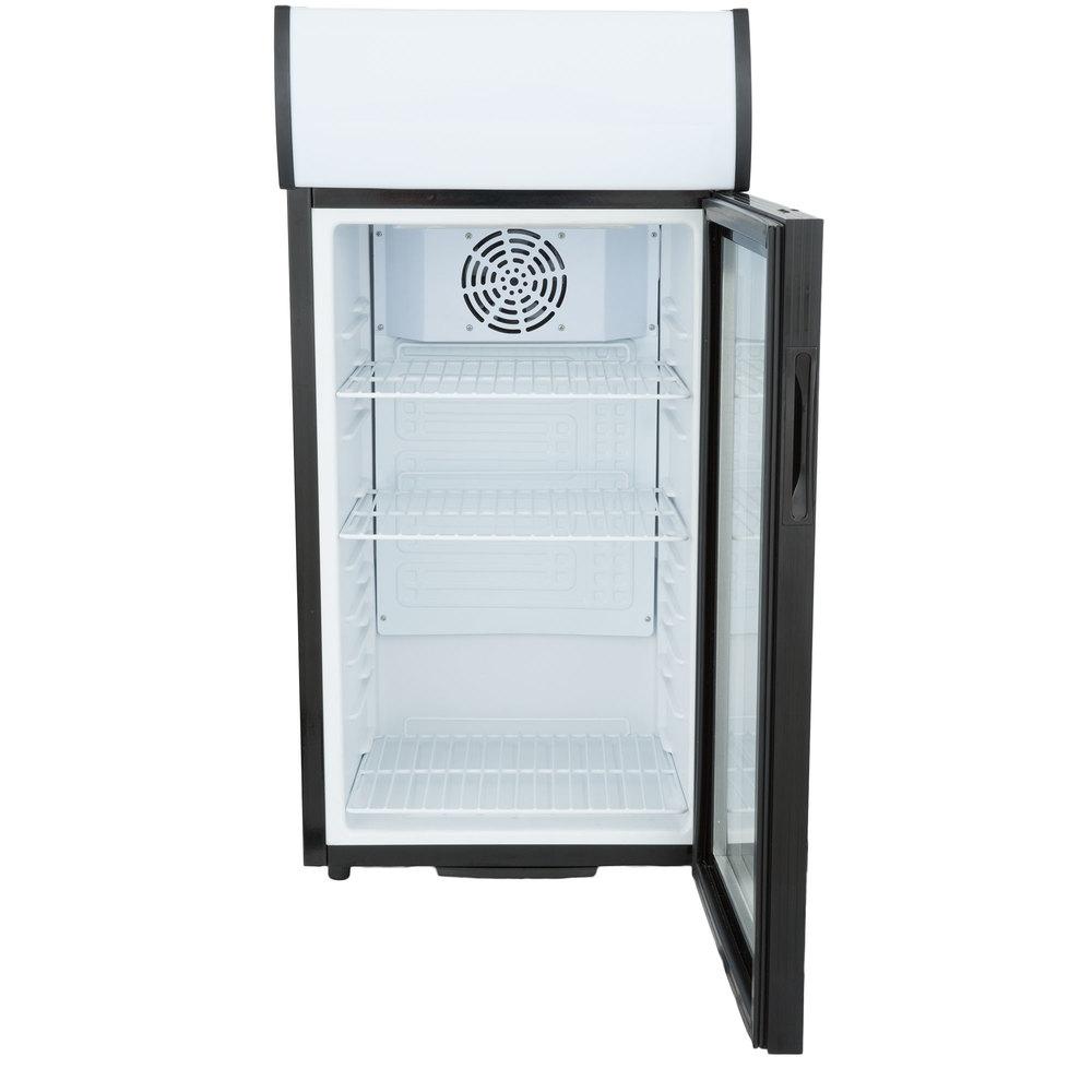 Avantco SC-80 Black Countertop Display Refrigerator with Swing Door ...