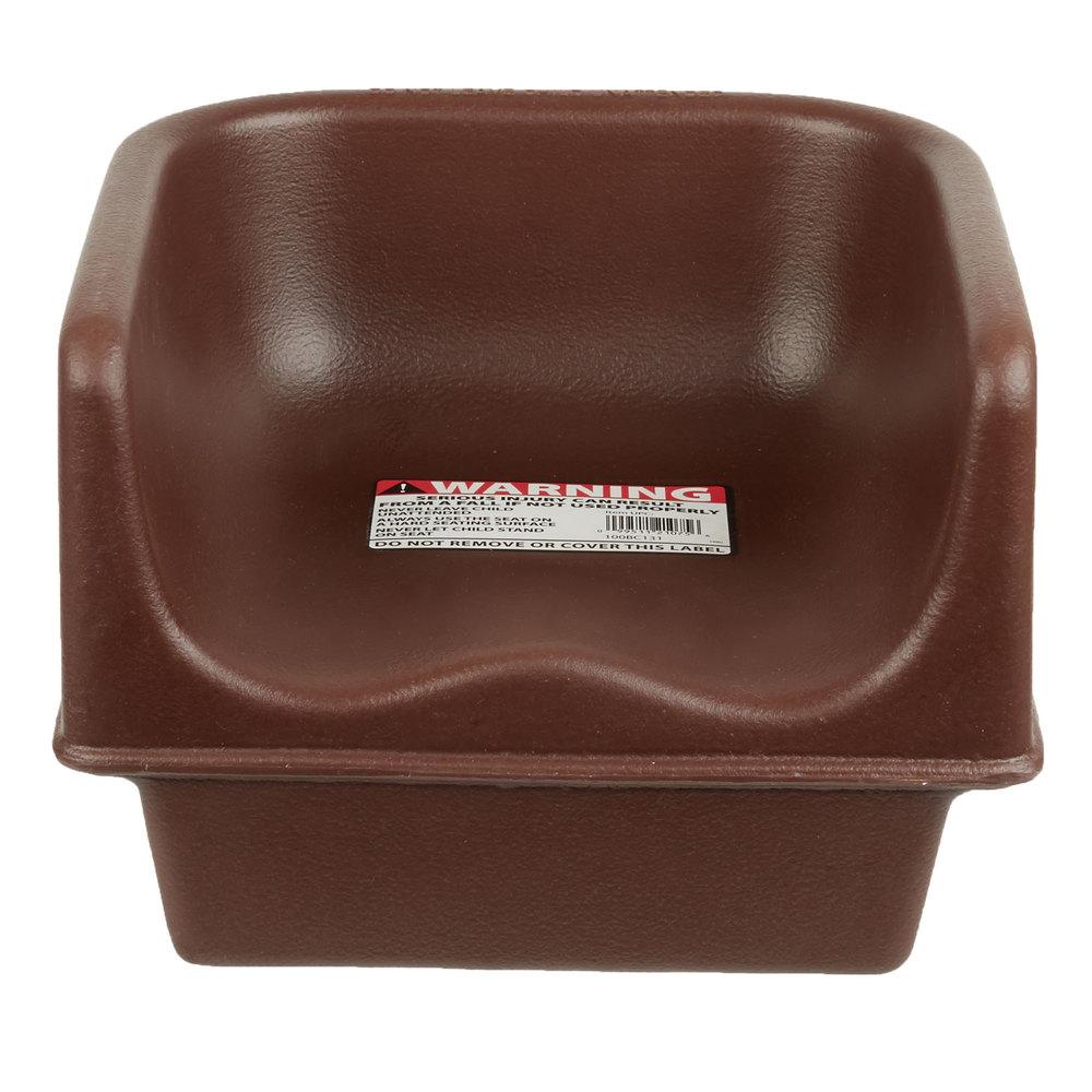 Cambro 100bc1131 Dark Brown Plastic Single Height Booster Seat