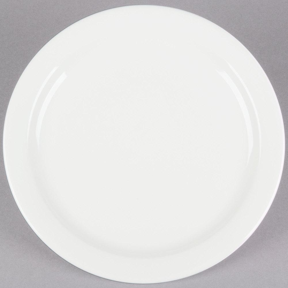 Core 10 1/2 inch Ivory (American White) Narrow Rim China Plate ... & Buffalo China Plates | Buffalo China Dishes