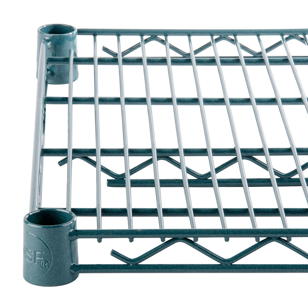 Regency 14 inch x 24 inch NSF Green Epoxy Wire Shelf