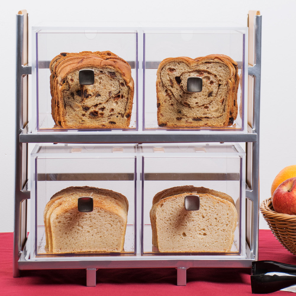 Cal-Mil 1480 Eco Modern Two Drawer Acrylic Bread Box for ...