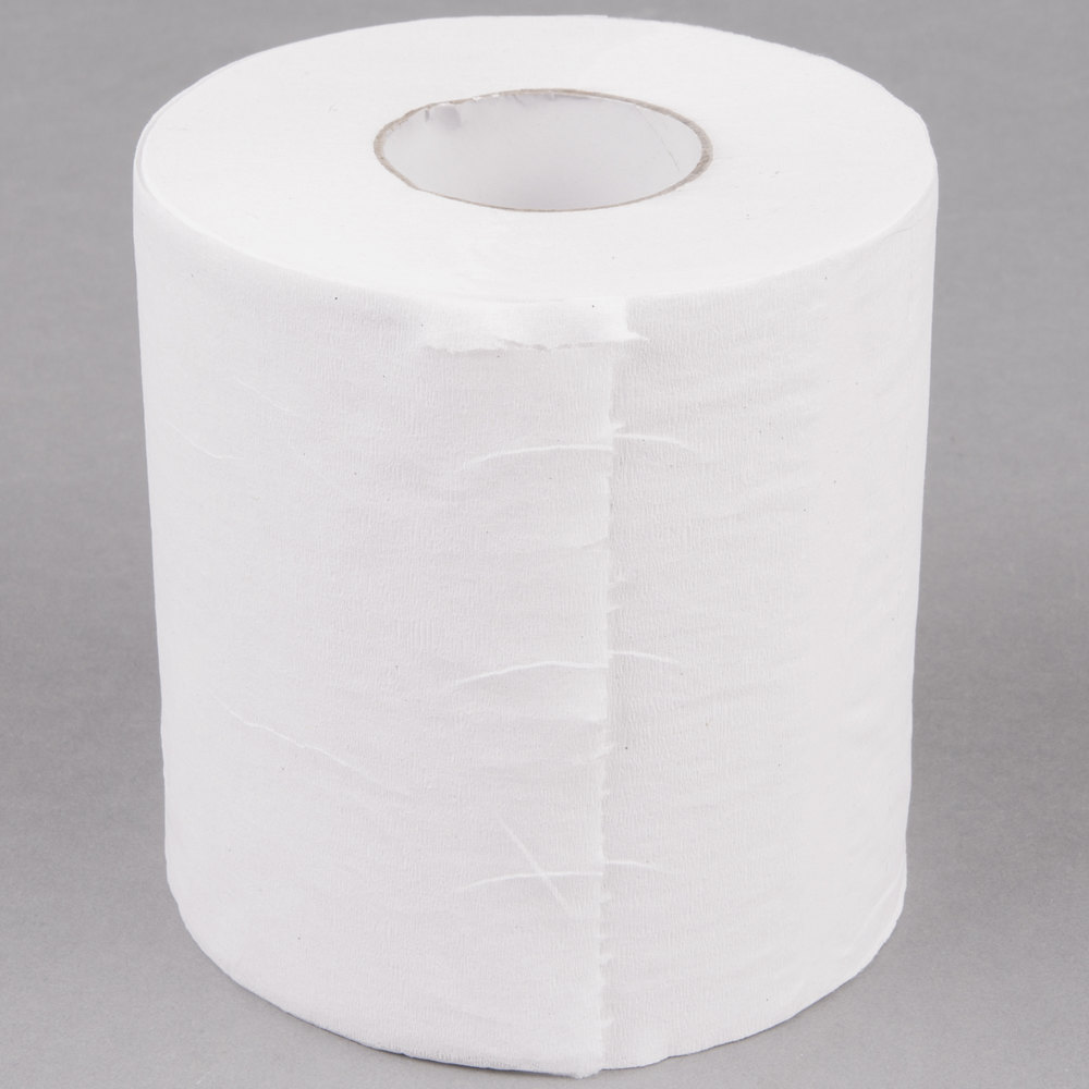 Lavex Janitorial Individually-Wrapped 1-Ply Toilet Paper Standard ...