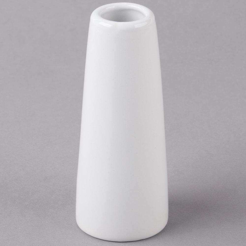 Tall cylinder vases webstaurantstore core 4 inch bright white porcelain bud vase 12case reviewsmspy