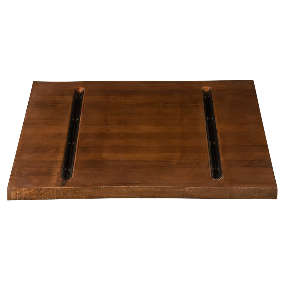 Lancaster table seating 30 x 30 solid wood live edge for Finishing live edge wood