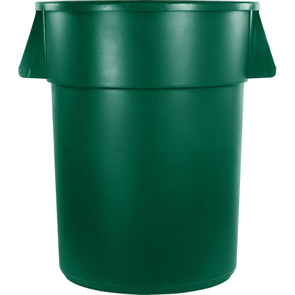 carlisle bronco 55 gallon green trash can