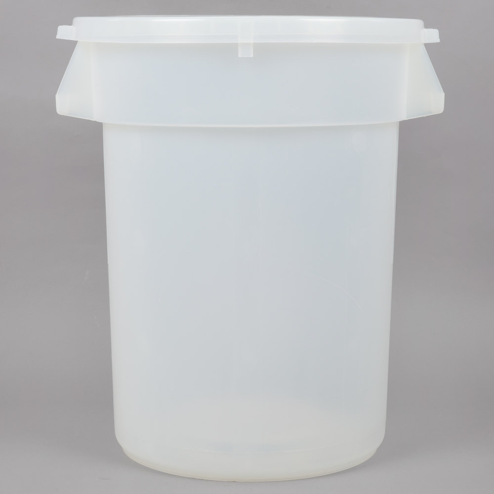 Continental Huskee 32 Gallon Clear Ingredient Bin Trash