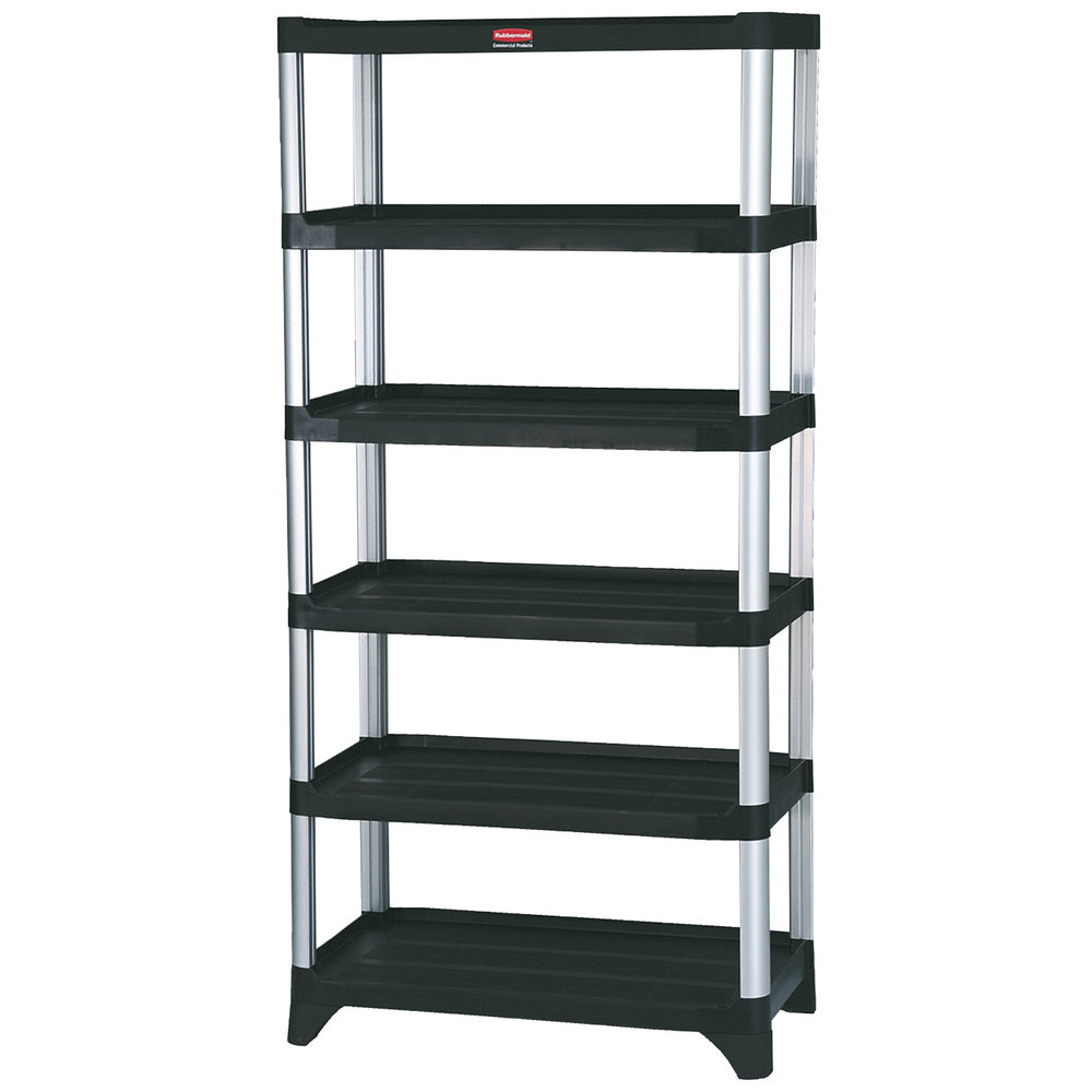 Rubbermaid FG9T4000BLA 35 Inch X 20 Inch X 72 Inch 6 Shelf Stationary  Shelving Unit