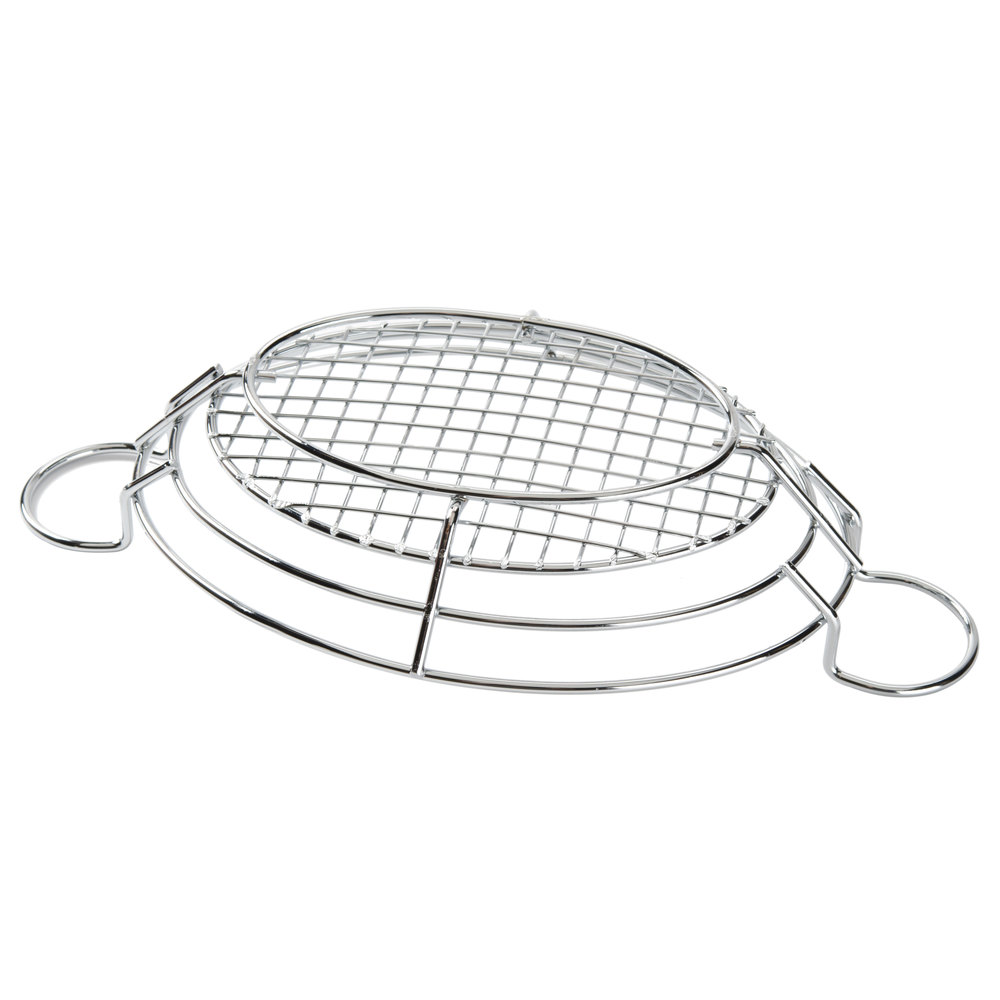 american metalcraft bskc118 chrome oblong wire basket with